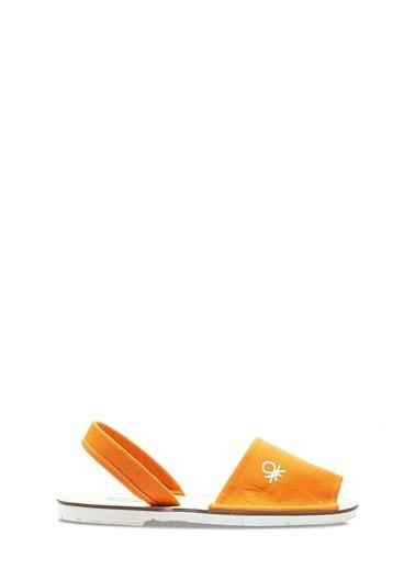 Benetton Bn1009 Kadın Sandalet Oranj